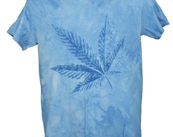 c10e06d7bc Destroyed Effect Marijuana Leaf Shirt