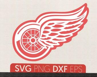 Detroit Red Wings Svg Download Cut File Files Dxf Eps Png NHL Logo Applique