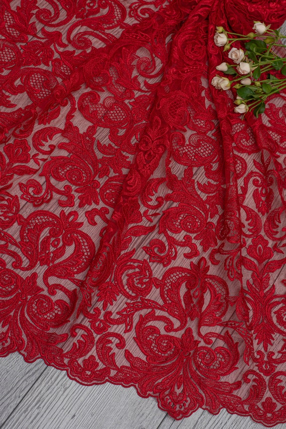new collection 2020 flower lace bridal lace fabric for wedding dress- Gold wedding dress lace fabric with flowers WL0093