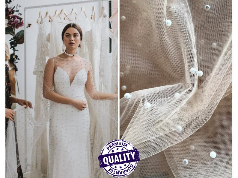 colored bridal tulle white tulle Glitter Pearl-Tulle Fabric for bridal veils and wedding dresses beautiful soft tulle fabric veil tulle