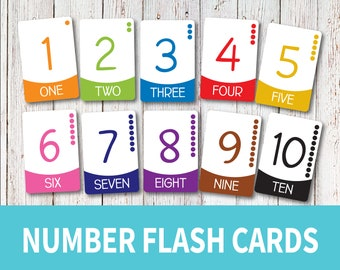 graphic regarding Number Flash Cards Printable 1-20 called Selection flash playing cards Etsy