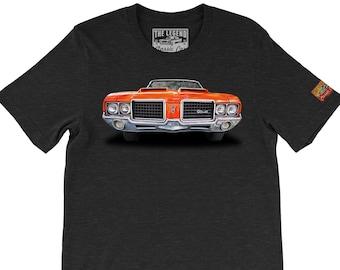 1971 Oldsmobile Cutlass Supreme The Legend Classic Car Artwork Men s Gift T- shirts - American Car Tee shirts Print cc0e777e7