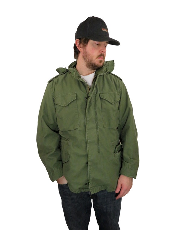 Vintage 70s Alpha Industries Men's Army M-65 OG-10