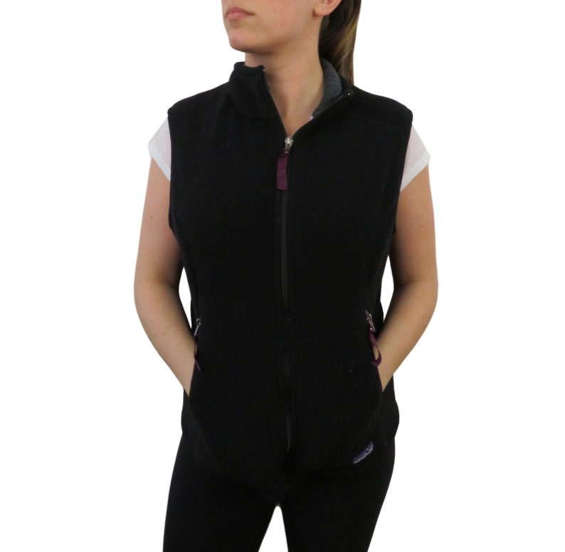 a1d968cfa Vintage Patagonia Womens Black Synchilla Fleece Vest Size Large Windbreaker  Lightweight Full Zip Spring Retro Sleeveless Jacket Canada Made