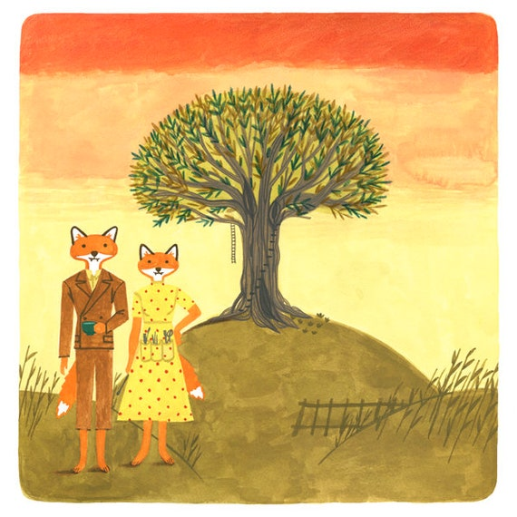Fantastic Mr Fox Movie Poster Wes Anderson Print Of Etsy