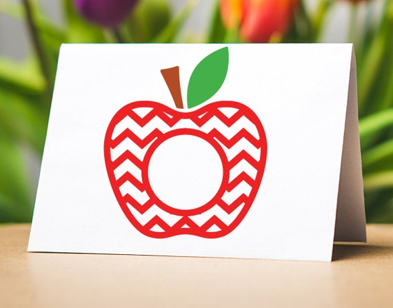 Teacher Svg Apple School Svg Files For Cricut Teacher Svg Etsy