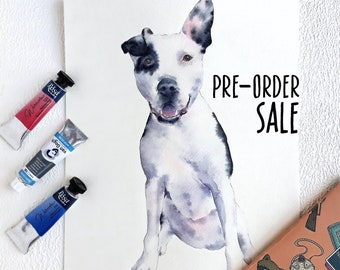aeba3fecac59 Watercolor Custom Pet Portrait, PRE-ORDER SALE! , Pet Drawing, Dog  Illustration, Custom Cat Drawing, Pet Housewarming Gift for mom