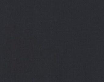 Robert Kaufman Fabric Kona Cotton Solids Charcoal HALF METRE
