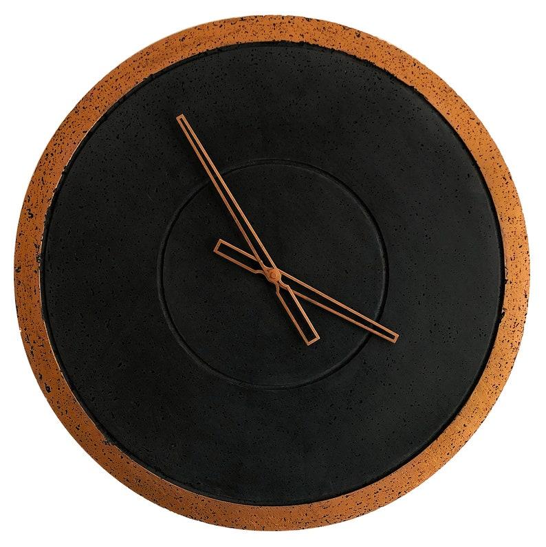 Beton Uhr große Wanduhr Kupfer Uhr Beton Uhr einzigartige