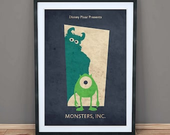 Monsters Inc Poster Etsy