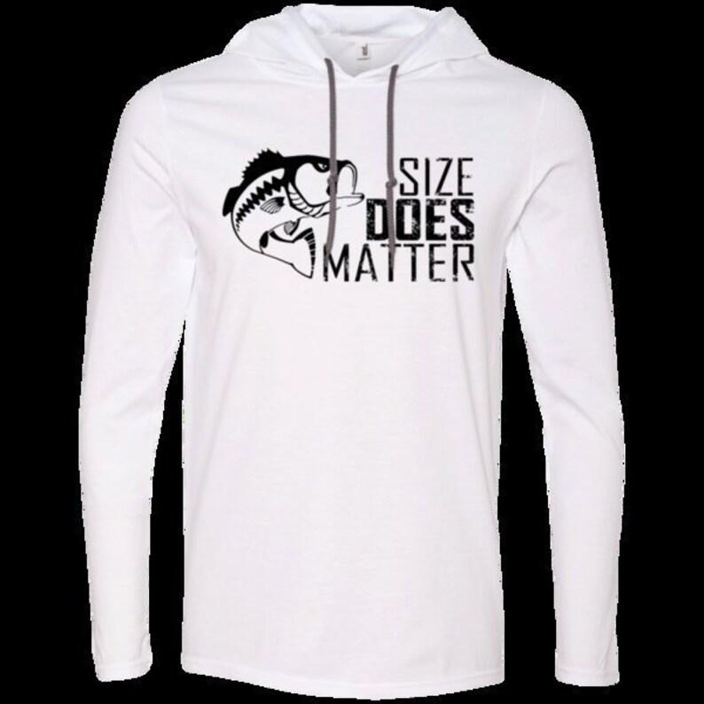 c7df5369a6121 Teeze Designs T-Shirt Hoodie Size Matters Fishing