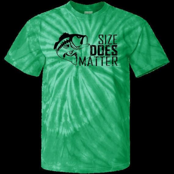 22681052dc493 Teeze Designs Tie Dye T-Shirt Size Matters Fishing