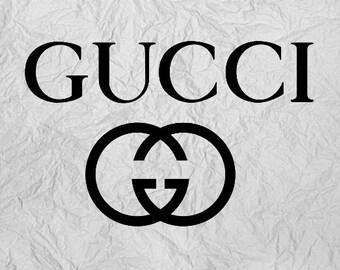 b0d55888a63 Gucci Vinyl Sticker Decal