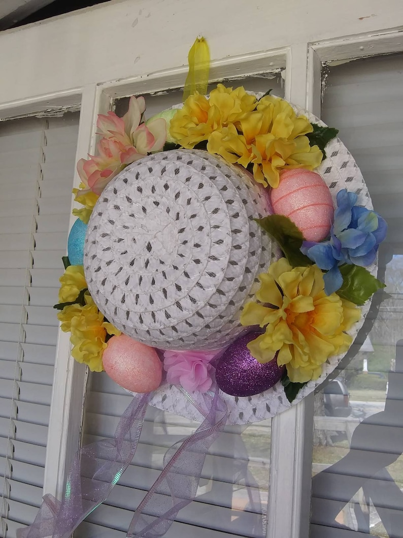 Easter Egg Hat Door Decoration Egg Hat Door Decoration Easter Hat Door Decoration Easter Door Decoration Small Door Decoration
