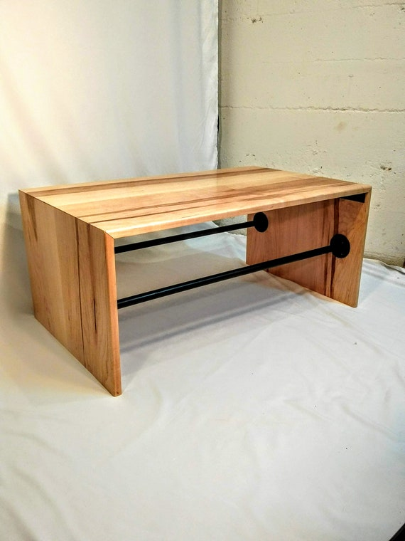Superb Maple Waterfall Edge Coffee Table Cjindustries Chair Design For Home Cjindustriesco
