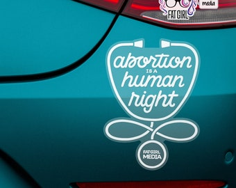 Abortion is a Human Right Pro-Choice Car Sticker, Pro-Choice Car Decal (4.25x5.75in)
