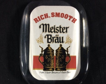 Rare Vintage Meister Brau Wooden Tap Handle NEW Old Stock Original Packaging