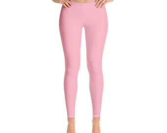 dfac4d3451519 Light Pink Leggings, Solid color Leggings for women, Vibrant color leggings,  Comfortable microfiber yarn, Gifts for women, Gift for her