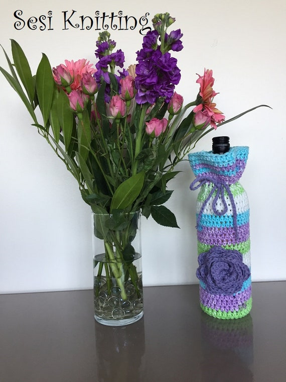 Lilac Wine Bottle Cover