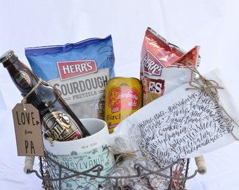 Pennsylvania Gift Basket with Tastykake, Hanks Root Beer& Herrs - Gift for Men - Gift for Women - Gift for Friend - Gift for Boss -
