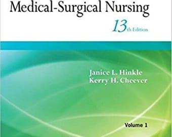 Brunner & Suddarth's Textbook of Medical Surgical Nursing 13th Edition ebook PDF