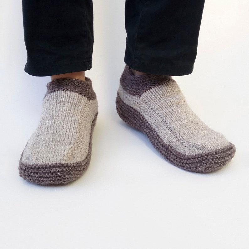 31537f42f7f04 Mens Slippers Socks, Hand Knit Wool Slipper Socks for Men, Bed Socks, House  Slippers, Indoor Shoes, Moccasin Slippers, Gift for Dad Husband