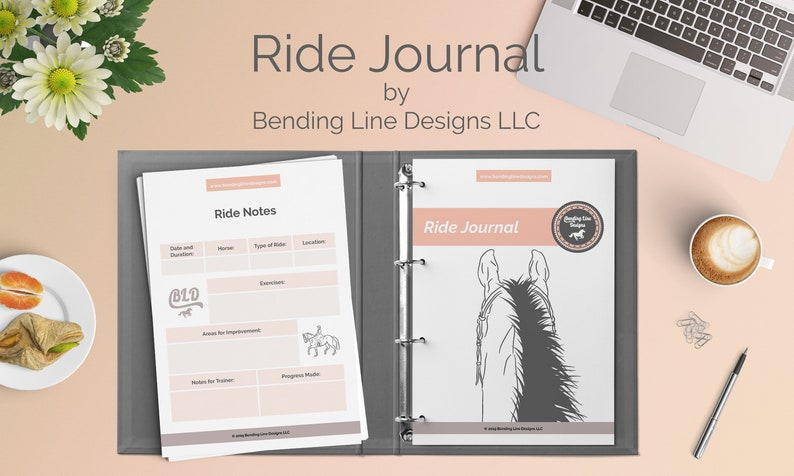 RIDE JOURNAL  Equestrian Planner US Letter Size pdf image 0