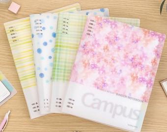 KOKUYO Watercolor Campus Binder Notebook   8 Holes   B5 A5   Smart Ring Binder    Study Supplies   Japanese Notebook