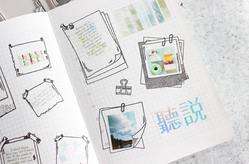 Planner Stamp\u00a0 Photo Frame Silicone Stamp Bullet Journal Scrapbooking Stamp\u00a0 Transparent Clear Stamp Set\u00a0