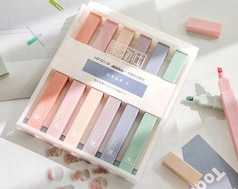 Cream Color Highlighter Pen|Rainbow Color | Highlighter Marker Pen | Study Supplies