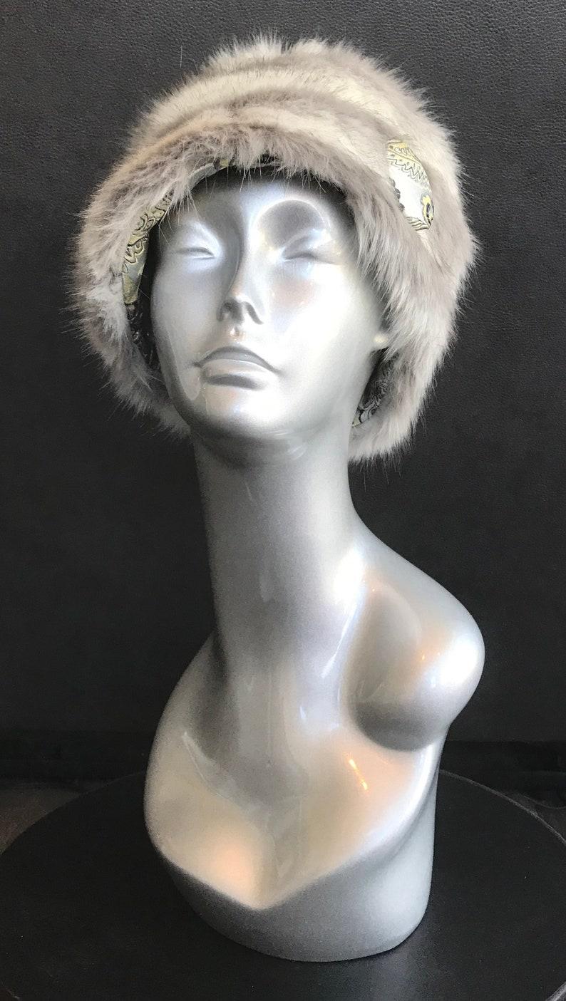 2dbe6ee54ac66 Womens Warm Faux Fur Winter Hat Original Design   Etsy