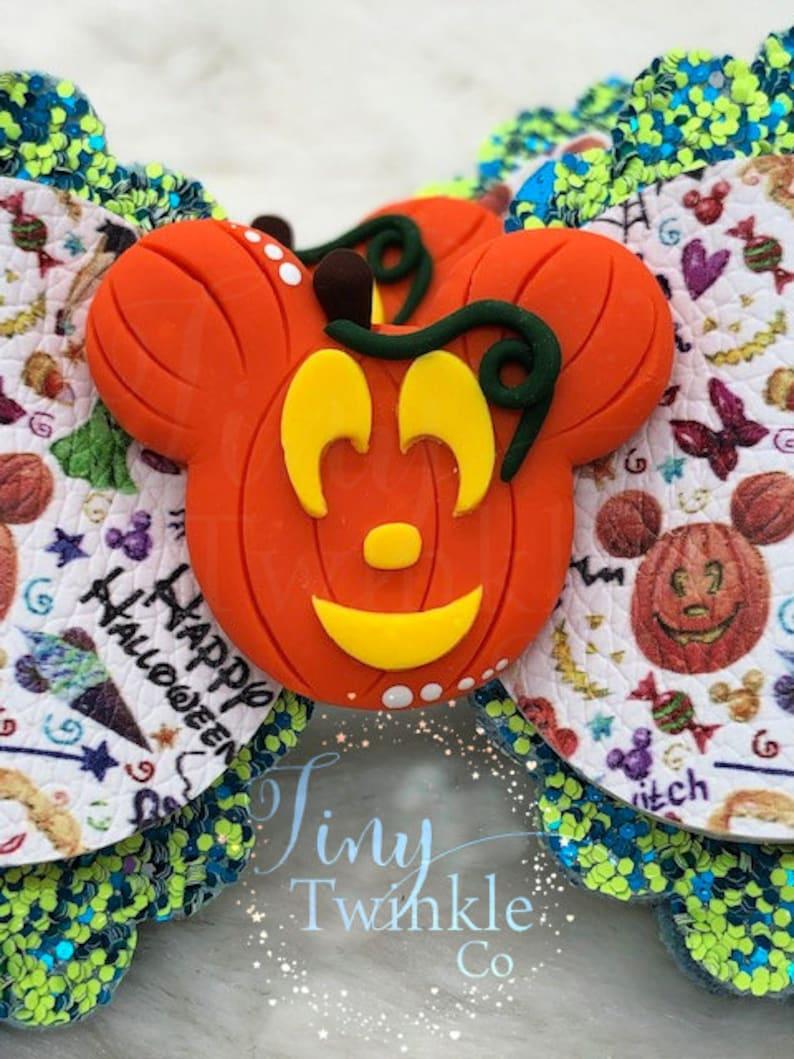 Girl/'s Halloween Bow Pumpkin Mouse Park Halloween