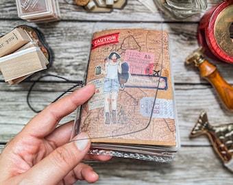 Transparent Passport Journal Cover (Handmade)POLYVINYL 2mm thick Traveller's Notebook Travel diary Planner Journal