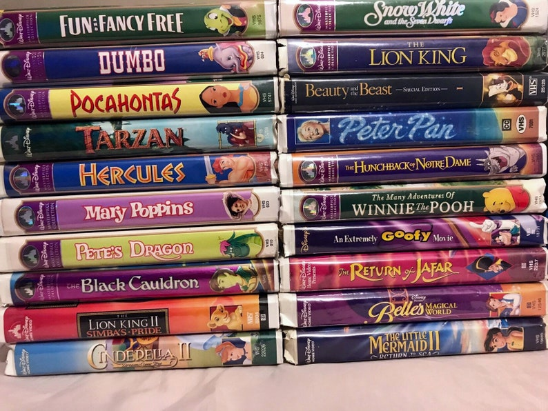 20 Different Disney masterpieces VHS Vintage animated movies