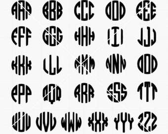 Circle monogram png,jpg,svg,cricut,silhouette file