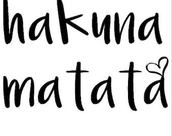 Hakuna Matata heart png,jpg,svg,cricut,silhouette file