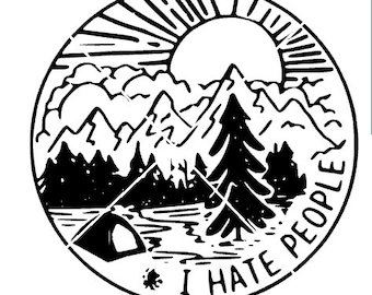 I hate people png,jpg,svg,cricut,silhouette file