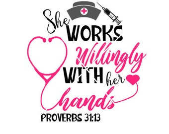 She works willingly with her hands png,jpg,svg,cricut,silhouette file