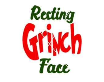 Resting Grinch Face png,jpg,svg,cricut,silhouette file