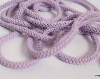 1.65 EUR/meter cotton cord hoodie cord cord rope 5 mm light purple