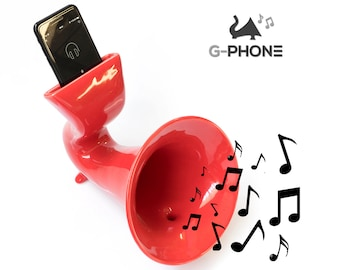 G-PHONE - Ceramic mobile amplifier – Made in Italy – Design that furnishes – Works with all kinds of iphones and smartphones