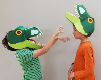 Make Your Own T Rex Mask - Unique 3D Design - All Parts Included - Easy to Follow Instructions