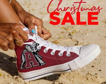 fbd445fc8100 Alabama Crimson Tide Custom Shoes