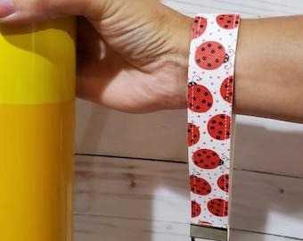 Wristlet Key fob Faux Leather. Wrist keychain. Customize fun pattern key holder