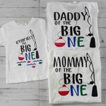 First Birthday matching family shirts. O'fish'ally the Big One. Mom, dad, and birthday child short sleeve t-shirts.