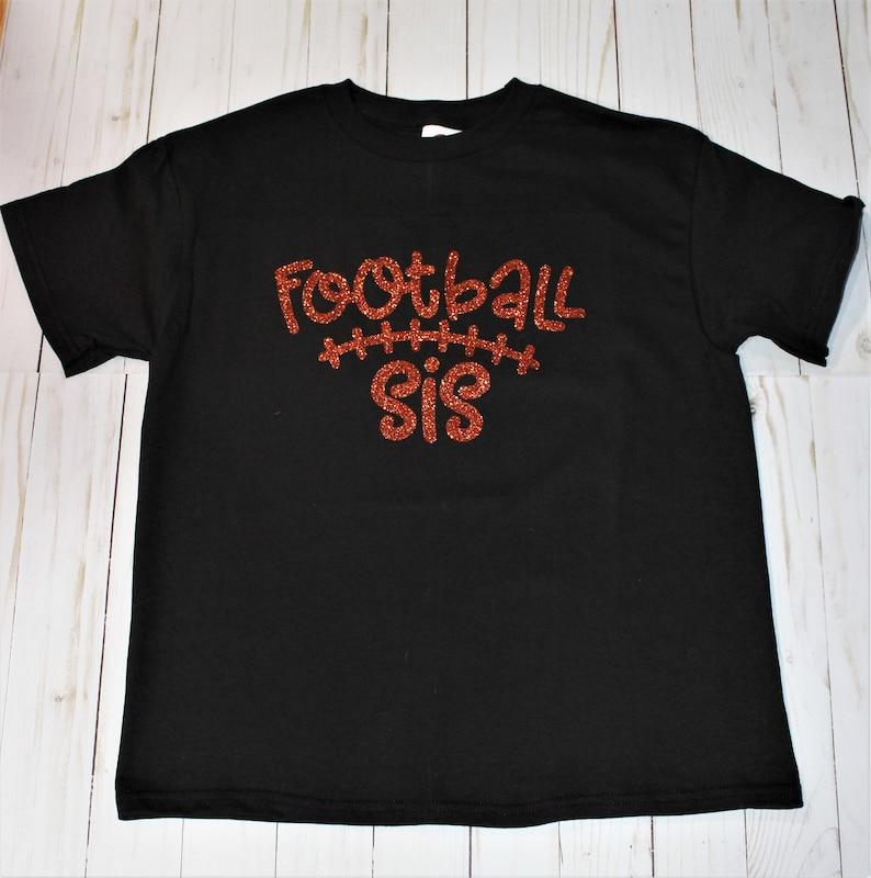 Customizable Football Sis Short Sleeve Girls T-Shirt. Football image 0