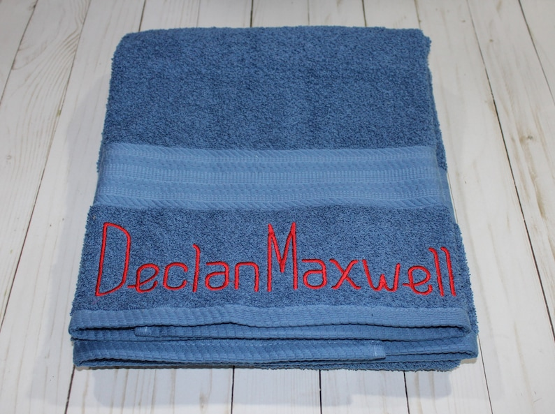 Personalized & Customized Bath Towel. Pick your font and image 0