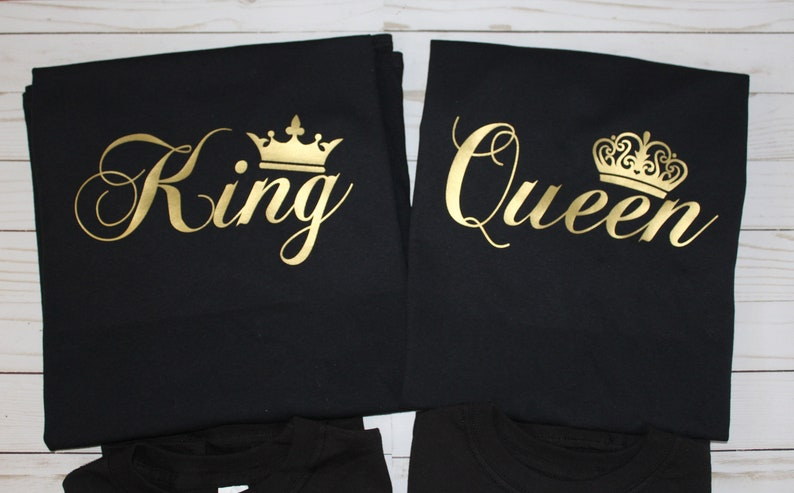 Customized Matching family shirts. King Queen. Mom dad short image 0