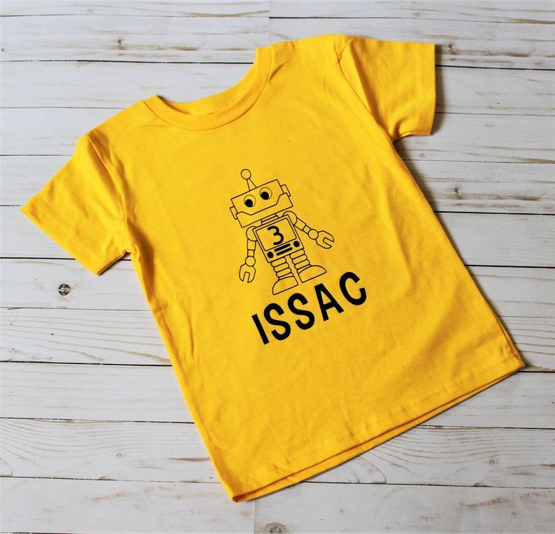 Customizable and Personalized Robot Birthday shirt. Robot image 0
