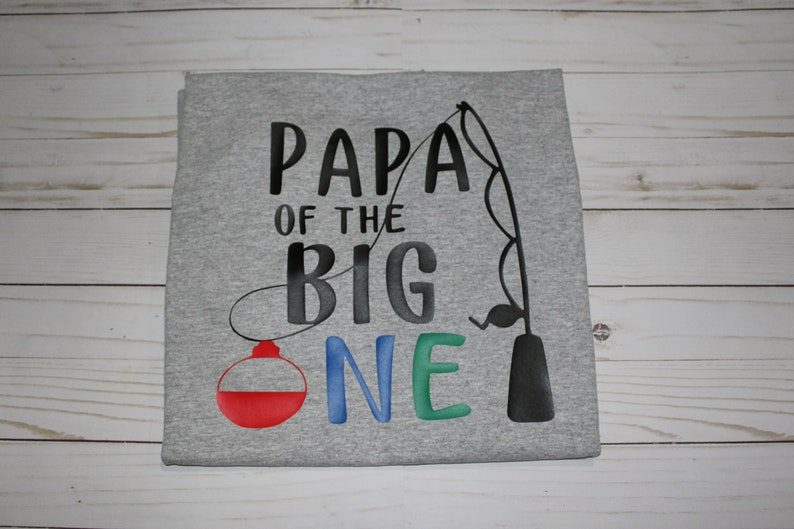 First Birthday shirt. Papa of the Big One adult short sleeve image 0